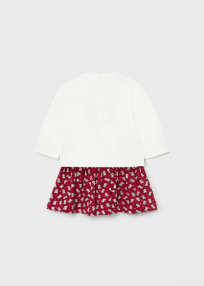 Mayoral Φόρεμα απλικέ Κόκκινο 11-02925-041