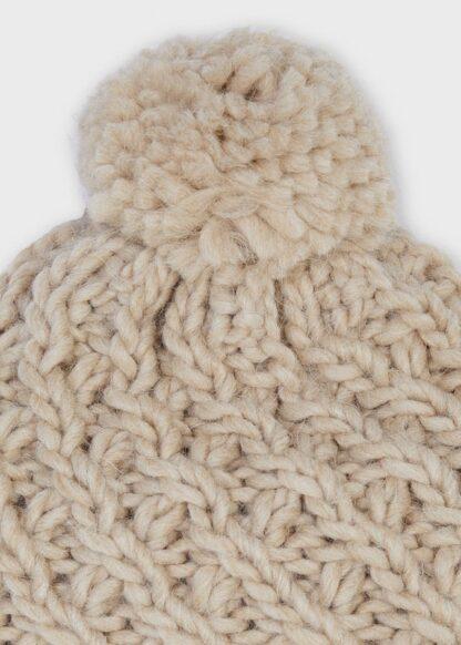 Mayoral Καπέλο πλεκτό μπεζ καθαρ 11-10160-051