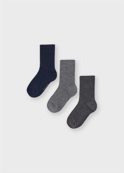 Mayoral Σετ 3 κάλτσες Ναυτικό μπλε 2 11-10135-063