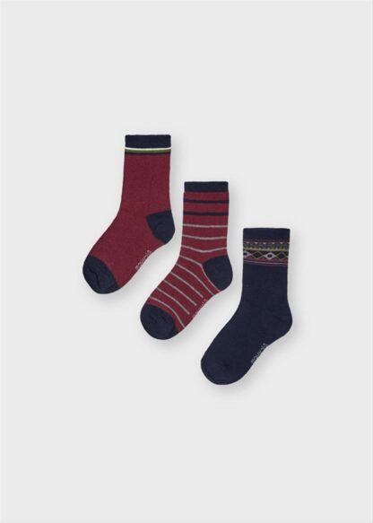Mayoral Σετ 3 κάλτσες ροδι 11-10136-018