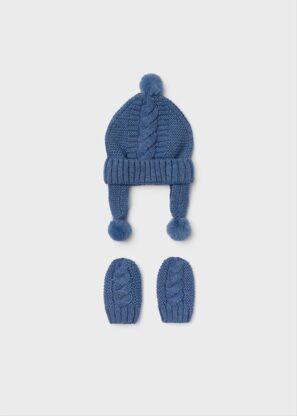 Mayoral Σετ σκούφος και γάντια Μπλε 11-09433-011