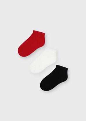 Mayoral Σετ 3 κάλτσες Κόκκινο 11-10140-058