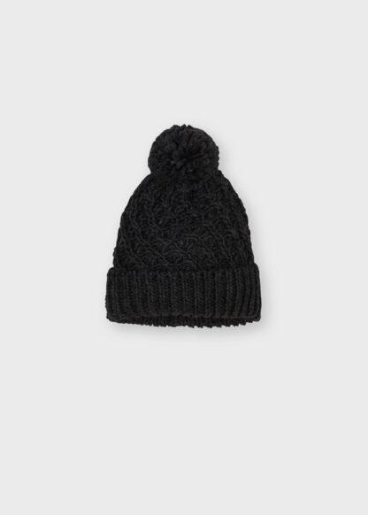 Mayoral Καπέλο πλεκτό σκουρ γκρι 11-10160-049