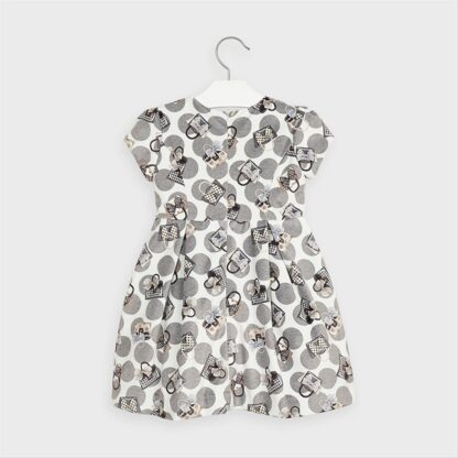Mayoral Φόρεμα βελουτέ τσέπες Γκρι 10-04968-075