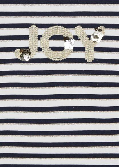 Mayoral Μπλούζα μακρυμάνικη ριγέ γκλίτερ Ναυτικό μπλε 2 11-04007-042