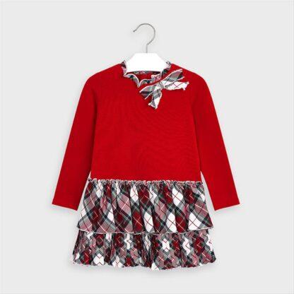Mayoral Φόρεμα συνδυασμένο καρό Αλικό 10-04978-065
