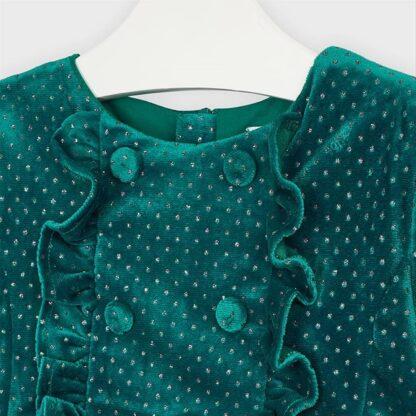 Mayoral Φόρεμα πουά γκλίτερ Πράσινο κυνηγ. 10-04972-091