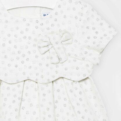Mayoral Φόρεμα πουά Εκρού 10-02945-059