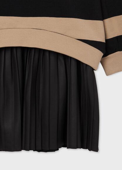 Mayoral Φόρεμα ριγέ συνδυασμένο Καμηλό 11-07909-049