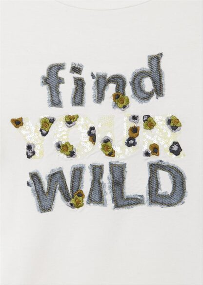 "Mayoral Μπλούζα μακρυμάνικη ""find your wild"" Εκρού 11-07086-033"